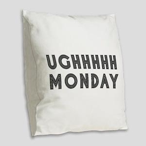 Monday Burlap Throw Pillow