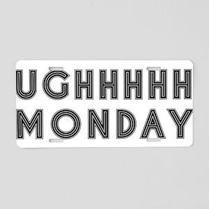 Monday Aluminum License Plate