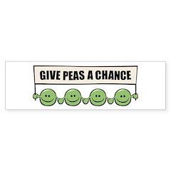Give Peas A Chance Bumper Bumper Sticker