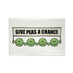 Give Peas A Chance Rectangle Magnet (10 pack)