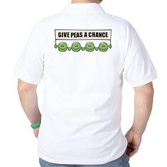 Give Peas A Chance Golf Shirt
