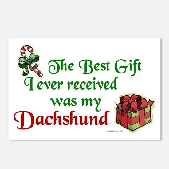 Best Gift 3 (Dachshunds) Postcards (Package of 8)