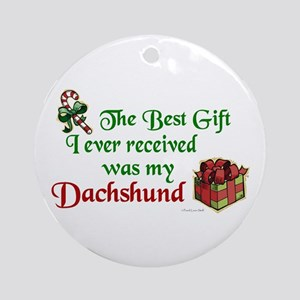 Best Gift 3 (Dachshunds) Ornament (Round)