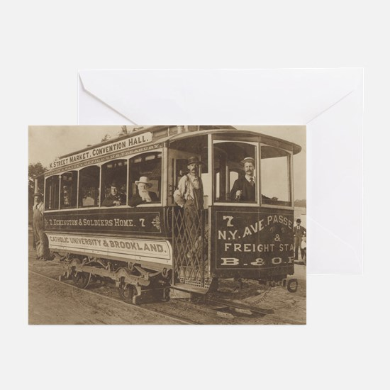 Trolley Car Greeting Cards (Pk of 10)