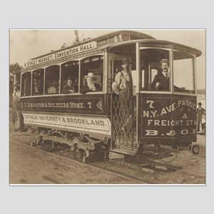 Trolley Car Small Poster
