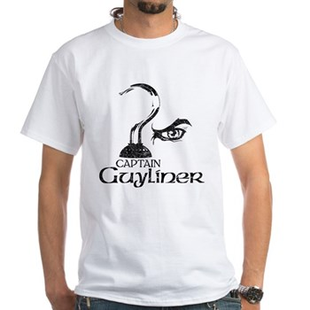 Captain Guyliner White T-Shirt