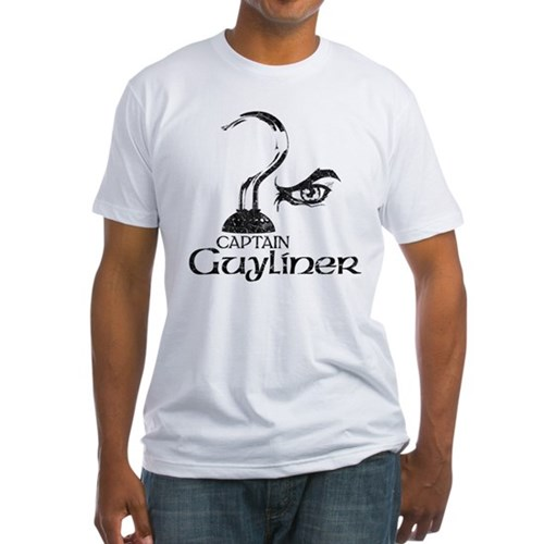 Captain Guyliner Fitted T-Shirt