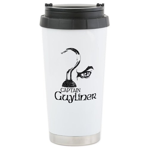 Captain Guyliner Stainless Steel Travel Mug