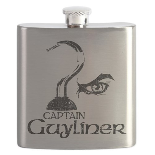 Captain Guyliner Flask