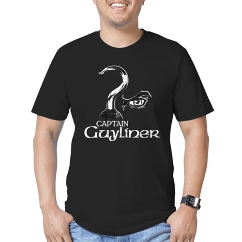 Captain Guyliner Men's Dark Fitted T-Shirt
