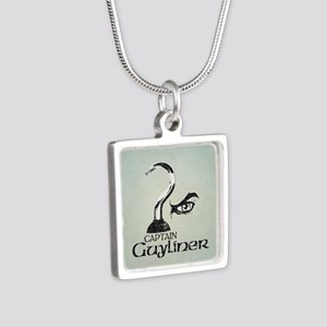 Captain Guyliner Silver Square Necklace