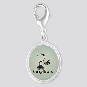 Captain Guyliner Silver Oval Charm