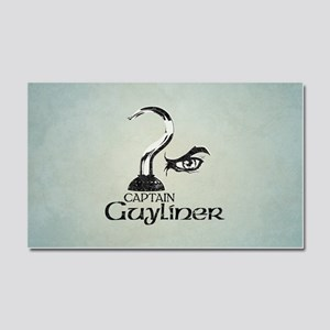 Captain Guyliner Car Magnet 20 x 12