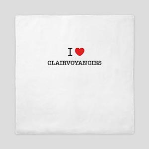 I Love CLAIRVOYANCIES Queen Duvet