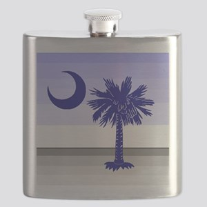 Palmetto on the horizon Flask