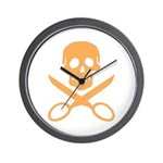 Orange Jolly Cropper Wall Clock