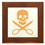 Orange Jolly Cropper Framed Tile
