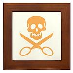 Orange Jolly Cropper Framed Tile