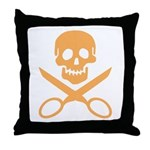 Orange Jolly Cropper Throw Pillow