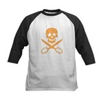 Orange Jolly Cropper Kids Baseball Jersey
