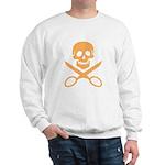 Orange Jolly Cropper Sweatshirt