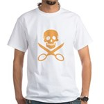 Orange Jolly Cropper White T-Shirt