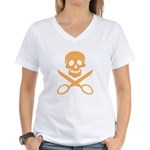 Orange Jolly Cropper Women's V-Neck T-Shirt