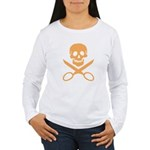 Orange Jolly Cropper Women's Long Sleeve T-Shirt