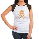 Orange Jolly Cropper Women's Cap Sleeve T-Shirt