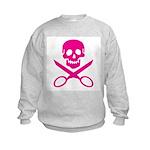 Fuchsia Jolly Cropper Kids Sweatshirt