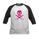 Fuchsia Jolly Cropper Kids Baseball Jersey