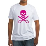 Fuchsia Jolly Cropper Fitted T-Shirt