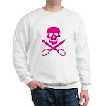 Fuchsia Jolly Cropper Sweatshirt