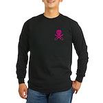 Fuchsia Jolly Cropper Long Sleeve Dark T-Shirt