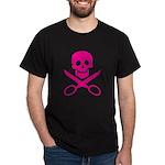 Fuchsia Jolly Cropper Dark T-Shirt