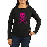Fuchsia Jolly Cropper Women's Long Sleeve Dark T-S