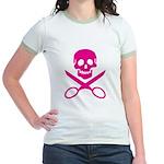 Fuchsia Jolly Cropper Jr. Ringer T-Shirt
