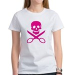 Fuchsia Jolly Cropper Women's T-Shirt