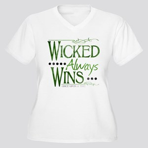 Wicked Always Win Women's Plus Size V-Neck T-Shirt