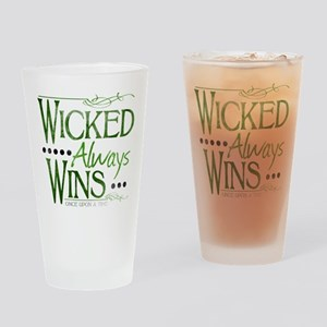 Wicked Always Wins Drinking Glass