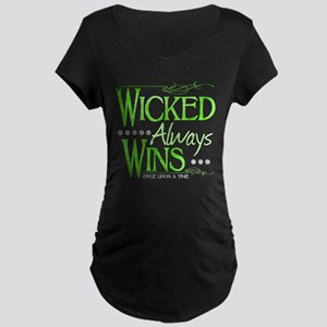 Wicked Always Wins Maternity Dark T-Shirt