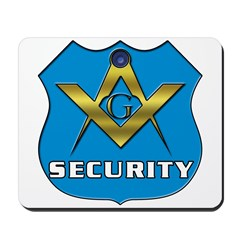 Masonic Security Guard Mousepad