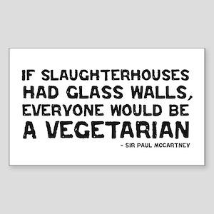 if slaughterhouses... Rectangle Sticker