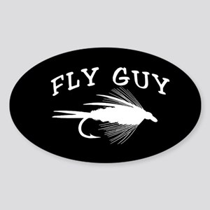 FLY GUY - OVAL STICKER