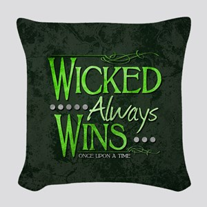 Wicked Always Wins Woven Throw Pillow