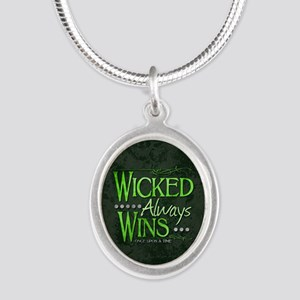 Wicked Always Wins Silver Oval Necklace