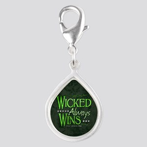 Wicked Always Wins Silver Teardrop Charm
