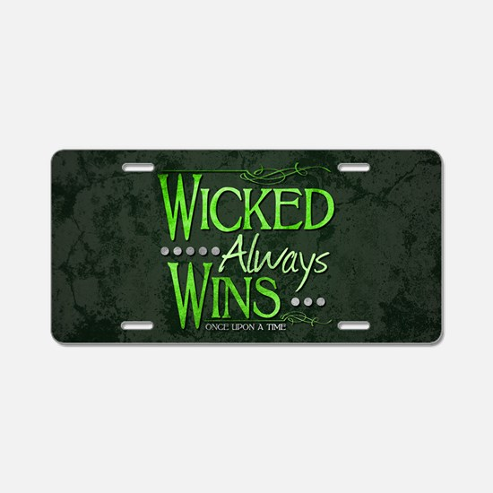 Wicked Always Wins Aluminum License Plate