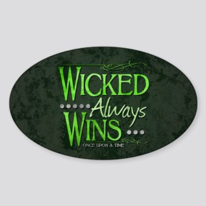 Wicked Always Wins Sticker (Oval)