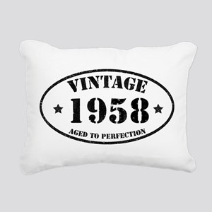 1958 Rectangular Canvas Pillow